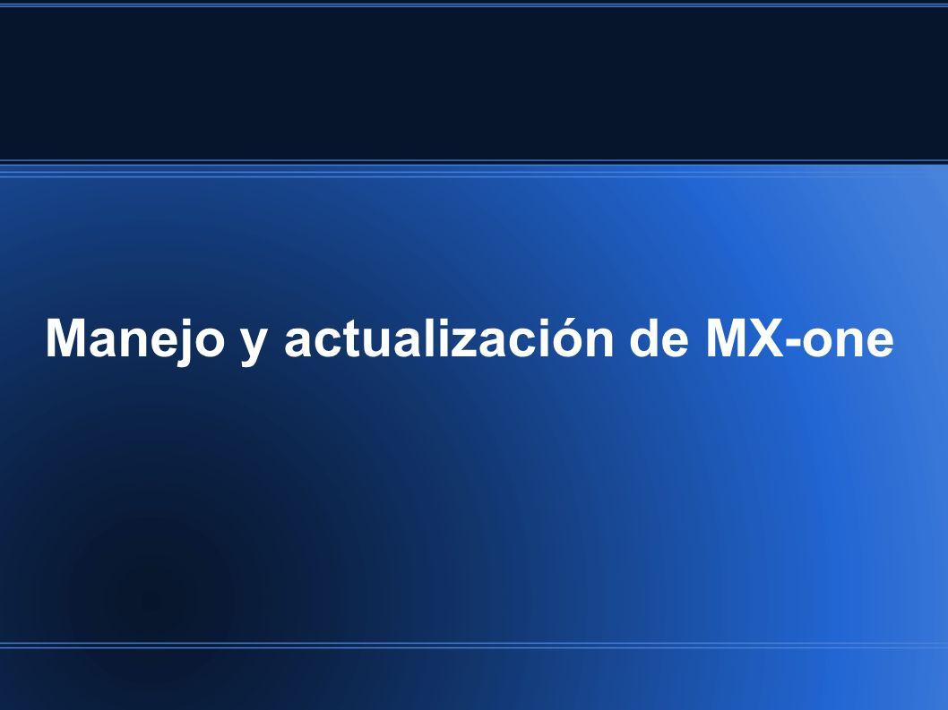 Manejo y actualización de MX-one