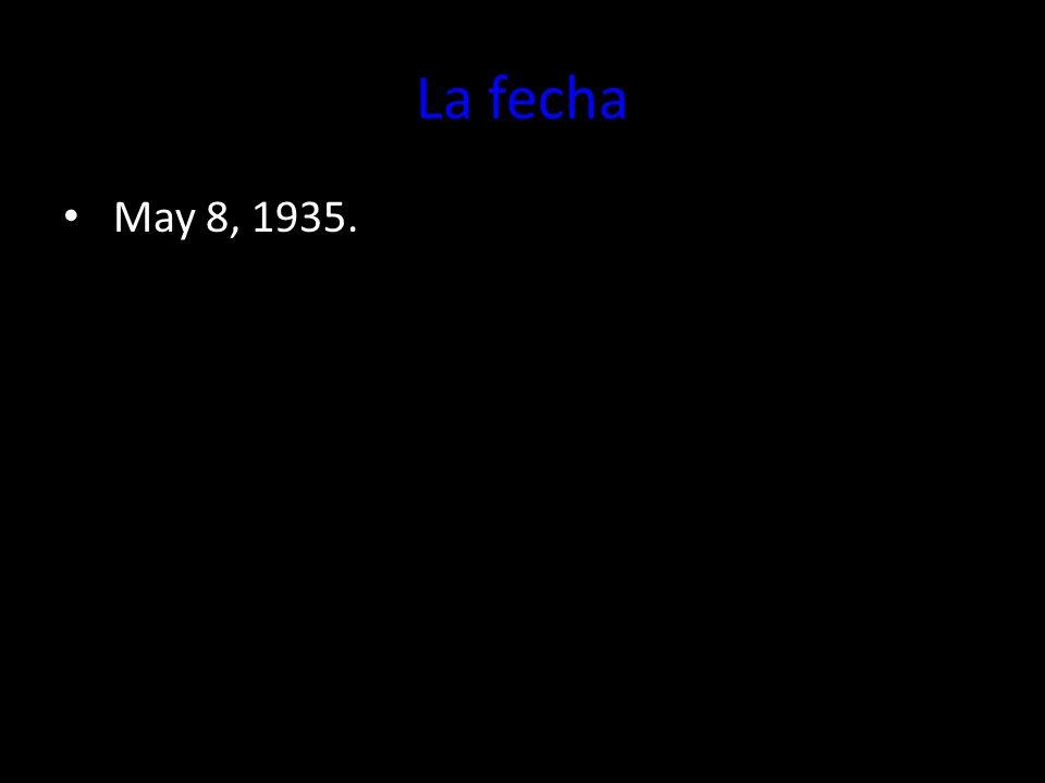 La fecha May 8, 1935. El ocho de mayo de 1935.