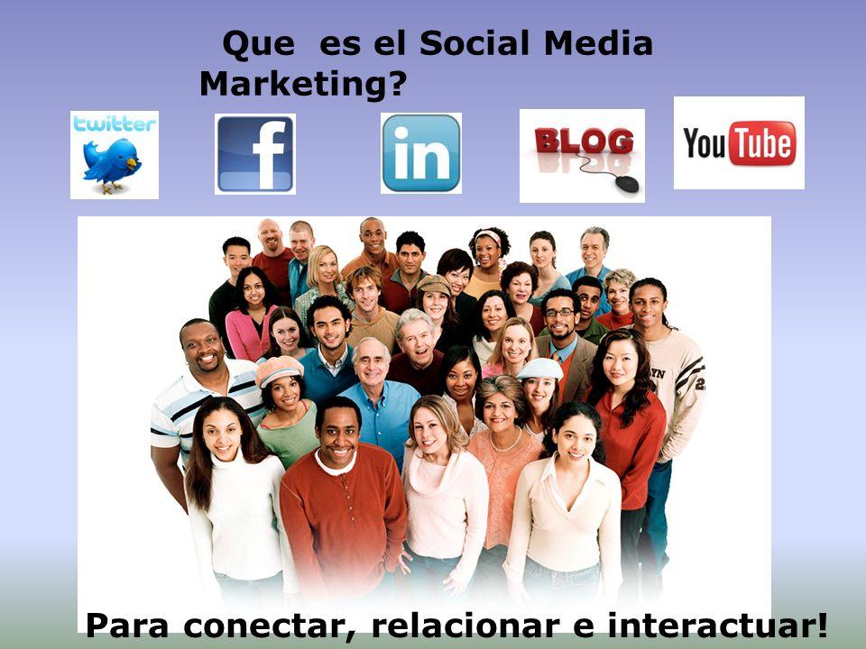 Que es el Social Media Marketing? Para conectar, relacionar e interactuar!