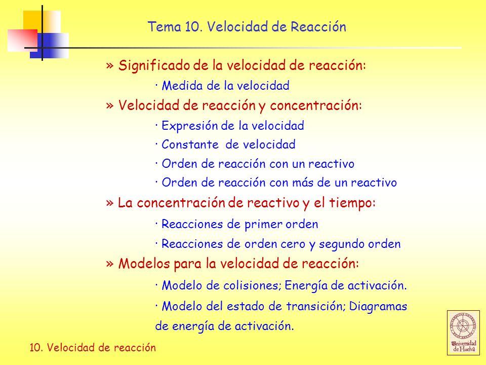 10.Velocidad de reacción Tema 10.