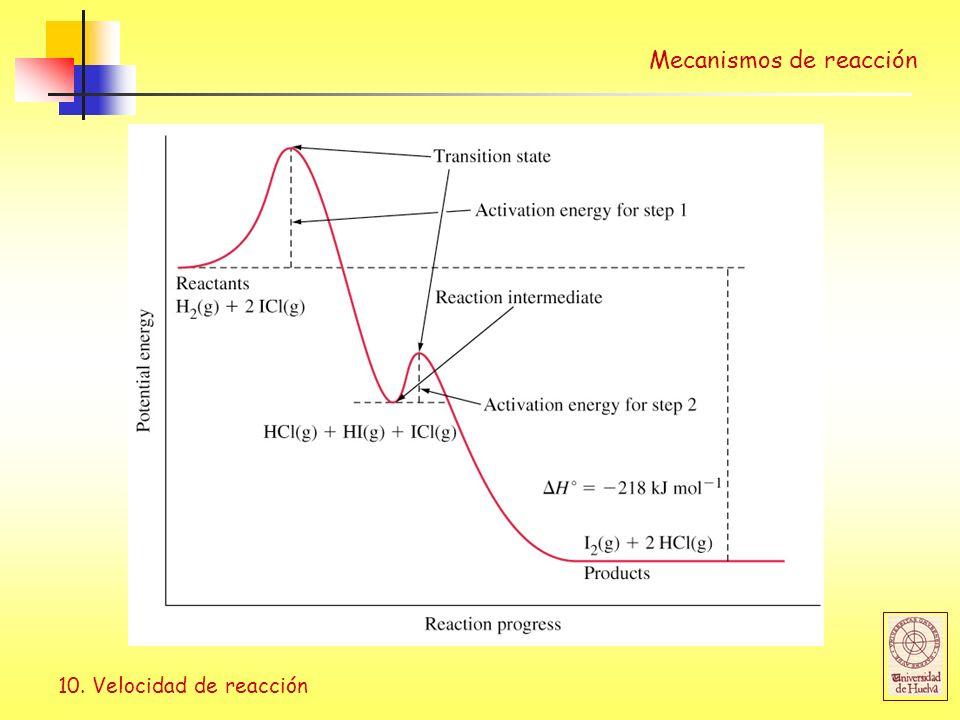 10. Velocidad de reacción
