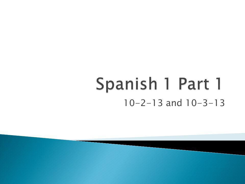 Unit 1 Vocabulary Chunk 1 Ask how someone (peer) is ¿Cómo estás?How are you.