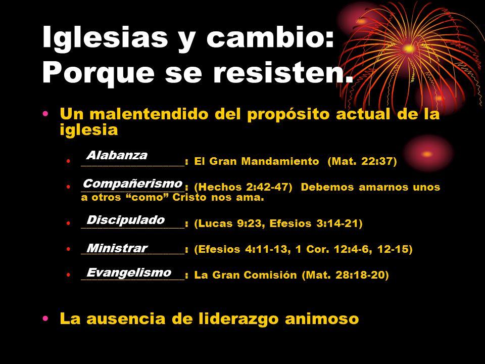 Iglesias y cambio: Porque se resisten.