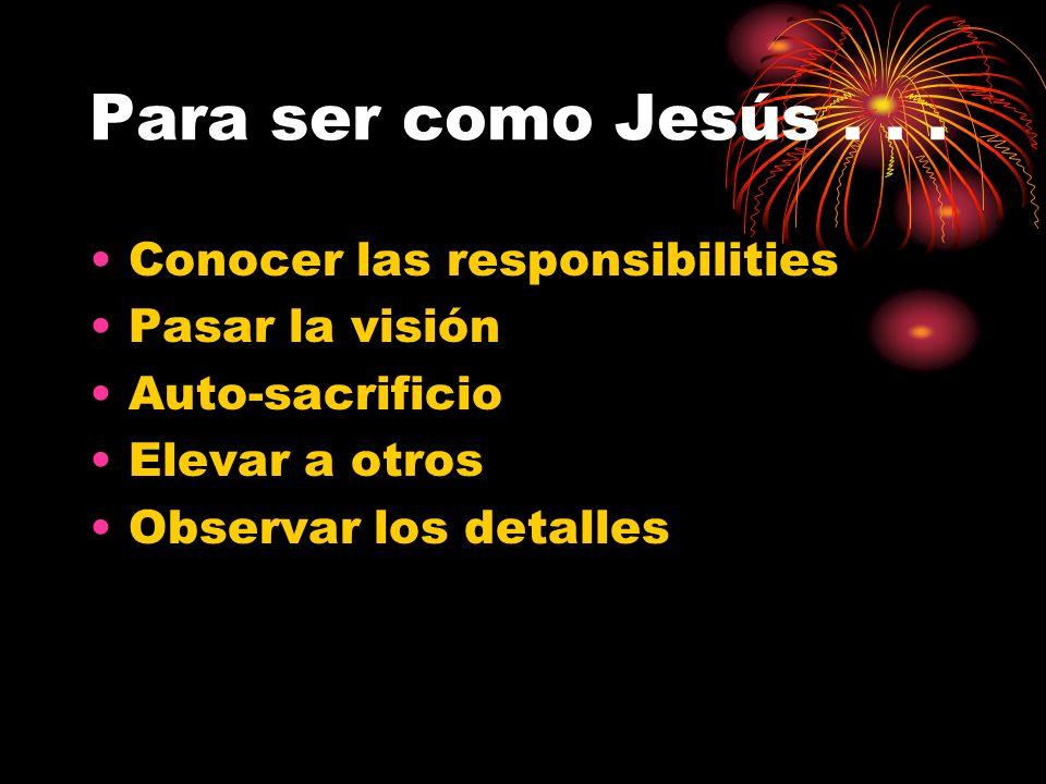 Para ser como Jesús...
