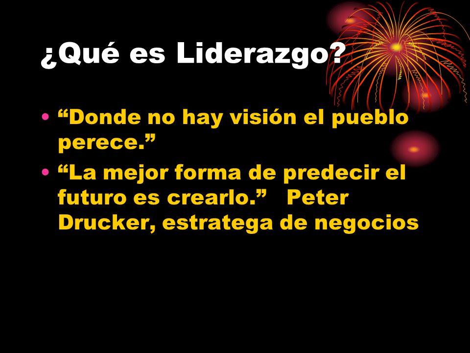 ¿Qué es Liderazgo.Donde no hay visión el pueblo perece.