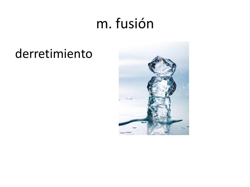 m. fusión derretimiento