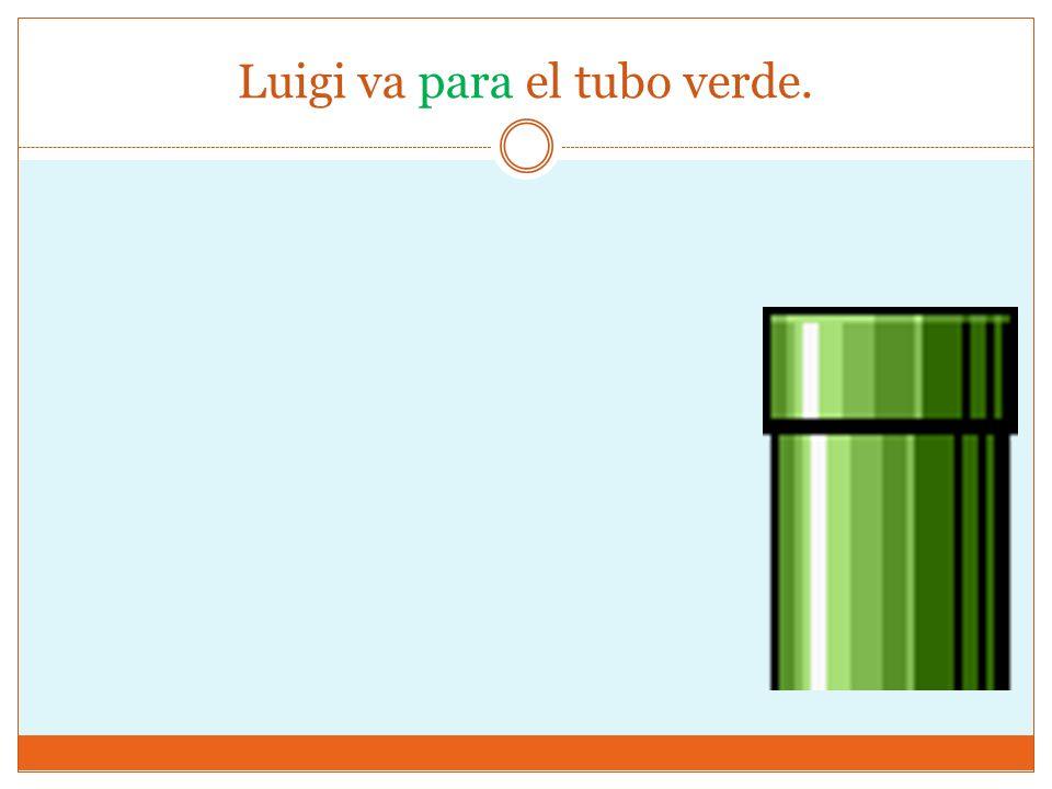 Luigi va para el tubo verde.