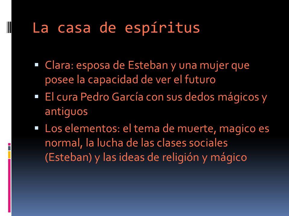 Isabel Allende y realismo mágico Una escritora que estaba influido por el movimiento de realismo mágico Como Gabriel Garcia Marquez, relata la mayoría