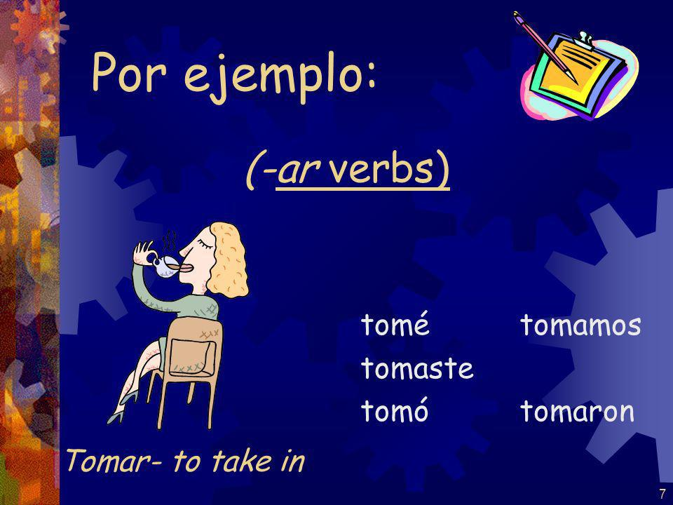 6 REMEMBER: accents on the yo form and the él / ella / Ud.