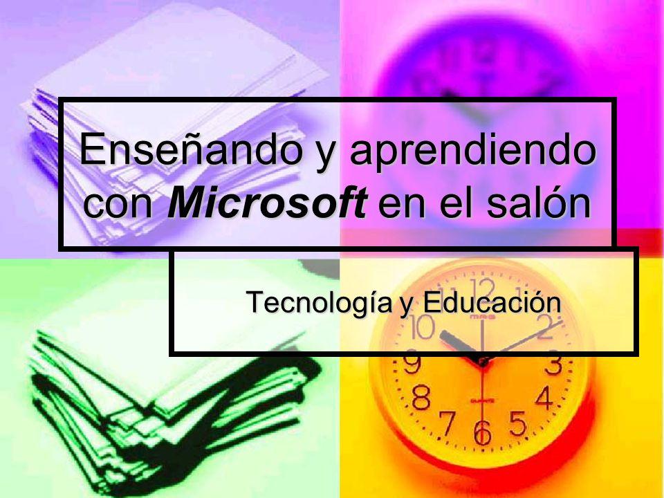 Enseñando y aprendiendo con Microsoft en el salón Tecnología y Educación
