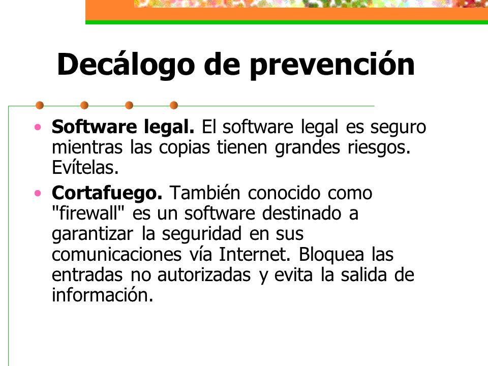 Decálogo de prevención Correo electrónico.En este caso la duda es buena consejera.