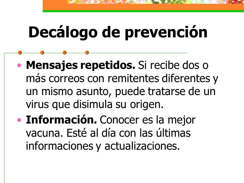 Decálogo de prevención Computadoras con Sistema Opertativo Si adquiere una computadora con S.O.