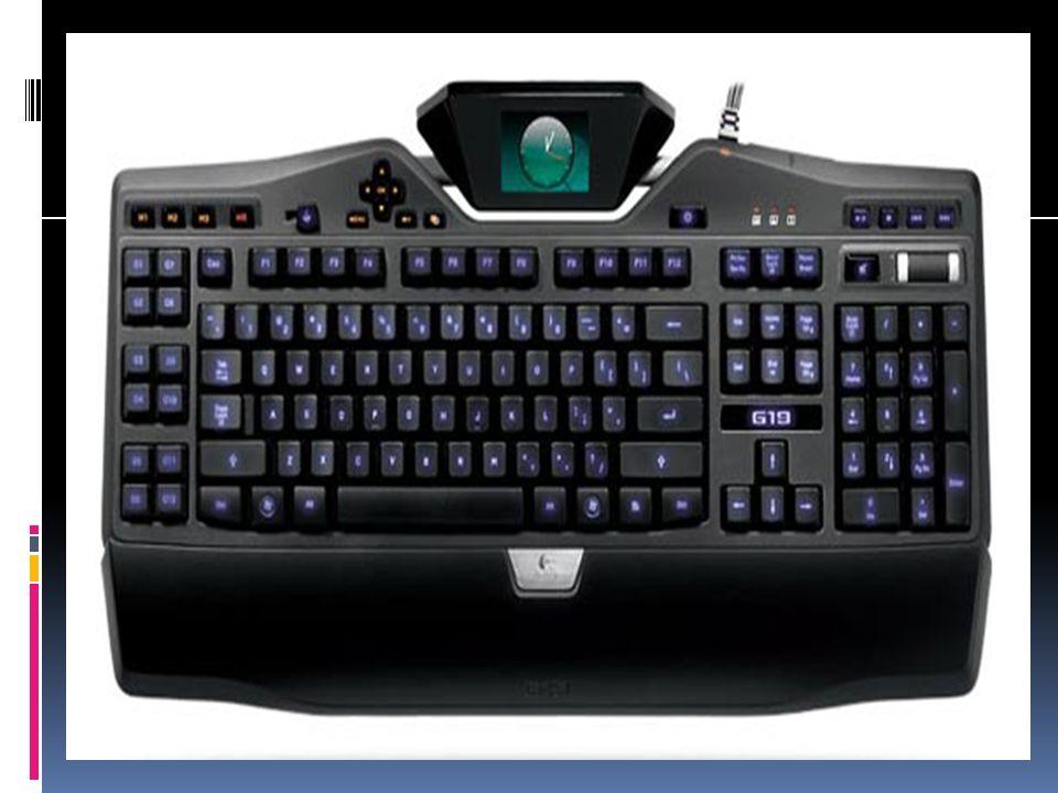 Cuando se presiona un caracter, envía una entrada cifrada al ordenador, que entonces muestra el caracter en la pantalla.