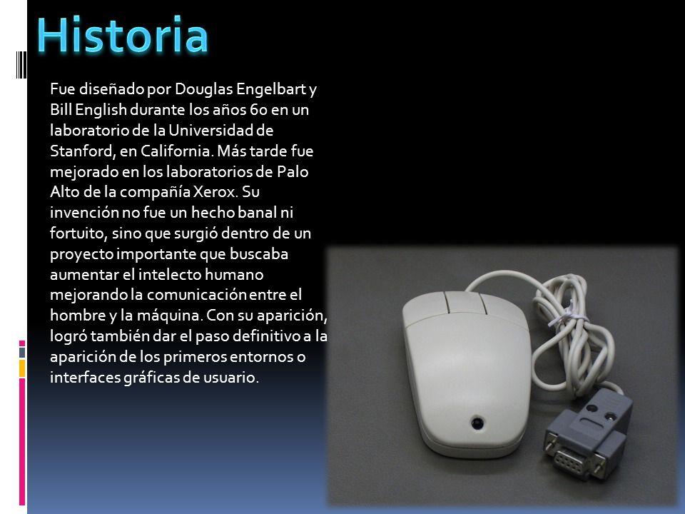 Fue diseñado por Douglas Engelbart y Bill English durante los años 60 en un laboratorio de la Universidad de Stanford, en California. Más tarde fue me