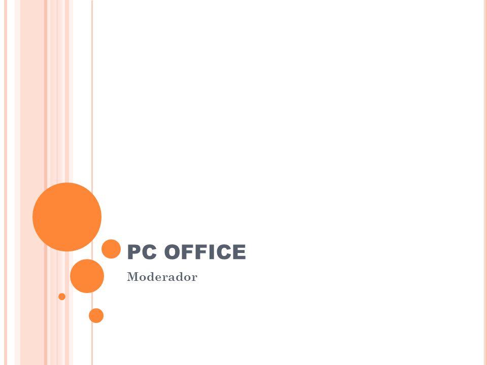 PC OFFICE Moderador Complete las tareas siguientes a fin de preparar la presentación para ser impresa: 1.Agregue un diagrama u organigrama (en pirámid