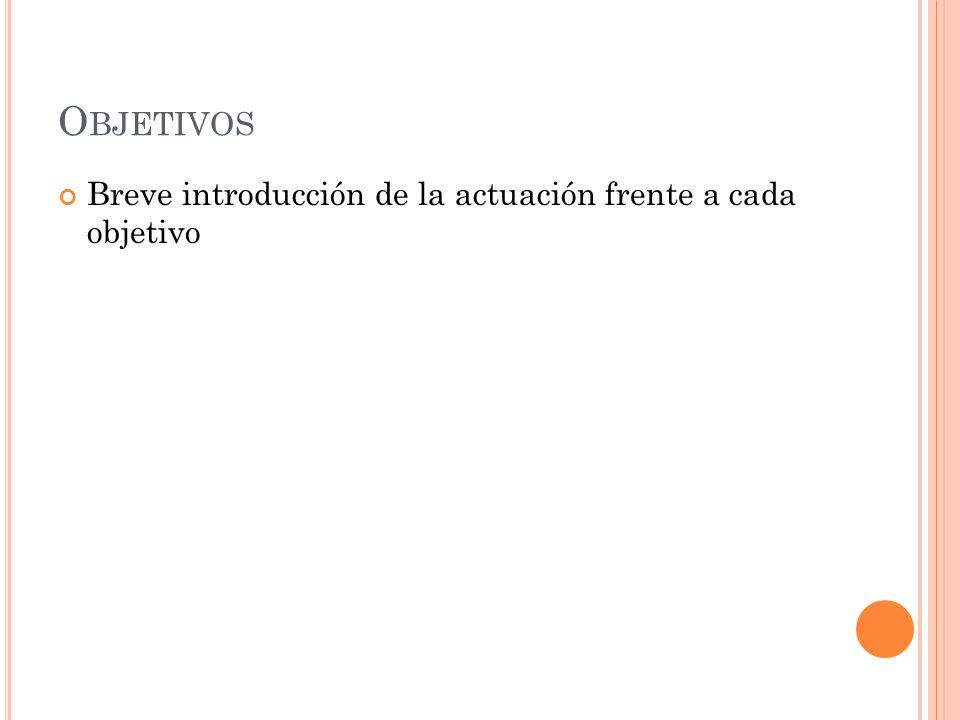 O BJETIVOS Breve introducción de la actuación frente a cada objetivo Complete las tareas siguientes a fin de preparar la presentación para ser impresa