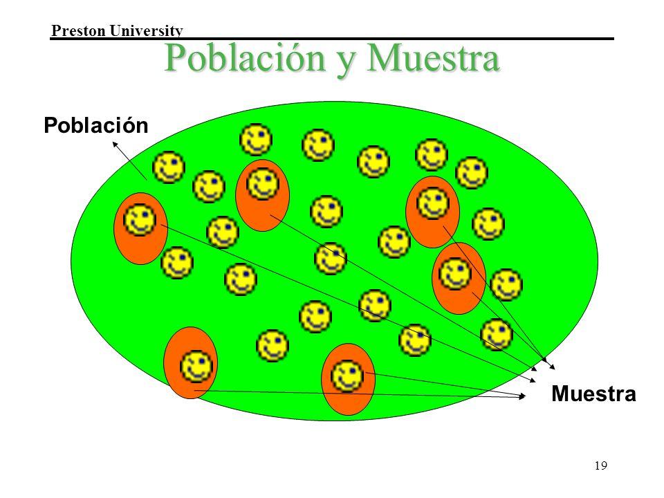 Preston University 19 Población y Muestra Población Muestra