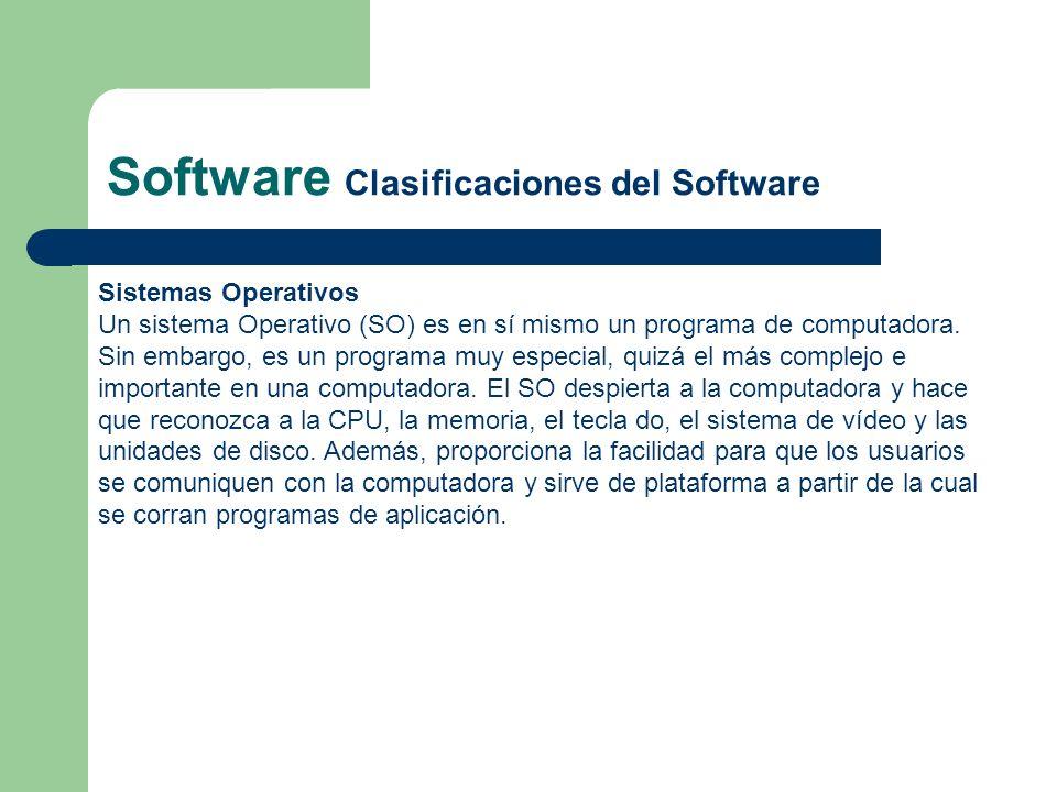 Sistemas Operativos Un sistema Operativo (SO) es en sí mismo un programa de computadora. Sin embargo, es un programa muy especial, quizá el más comple