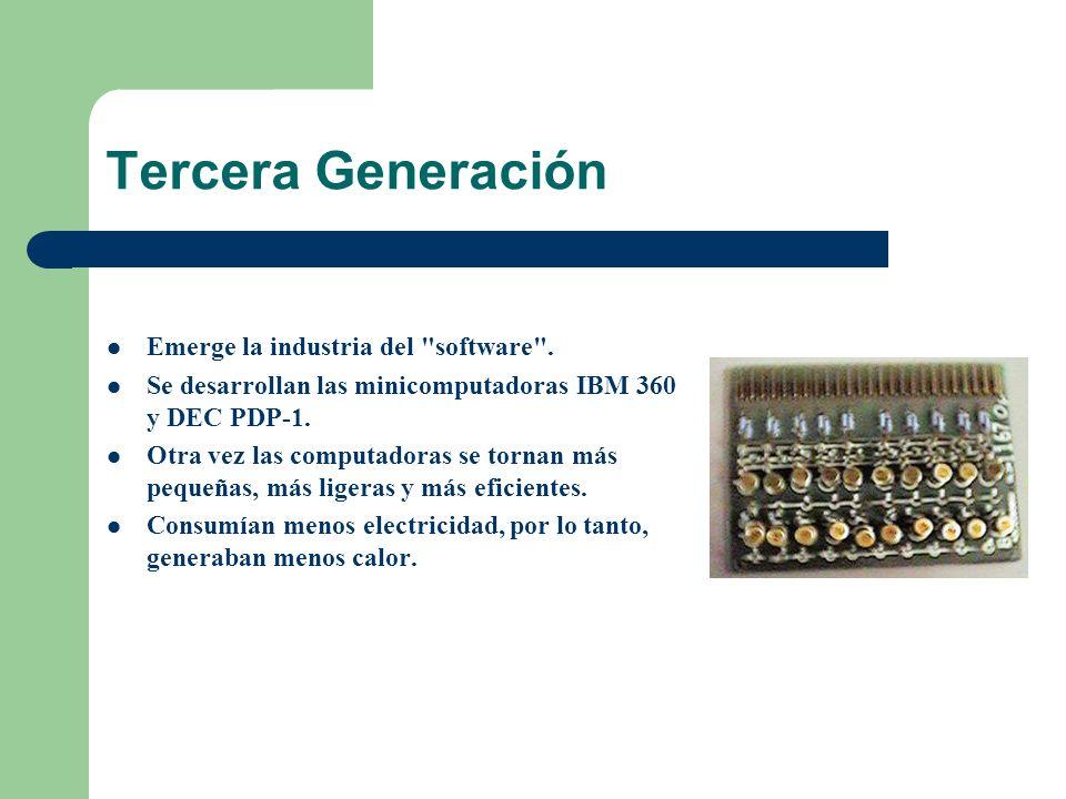 Cuarta Generación (1971 - 1988) Se desarrolló el microprocesador.