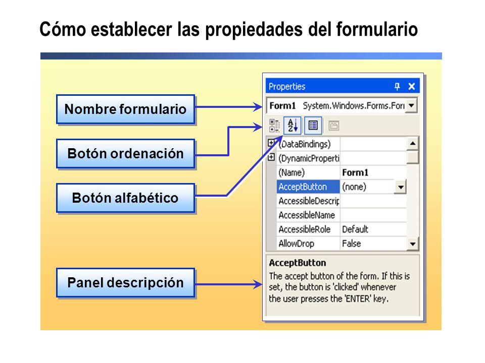 Cómo crear un formulario heredado Crear un formulario heredado utilizando el cuadro de diálogo Selector de herencia Crear un formulario heredado programáticamente Public Class Form2 Inherits Namespace1.Form1