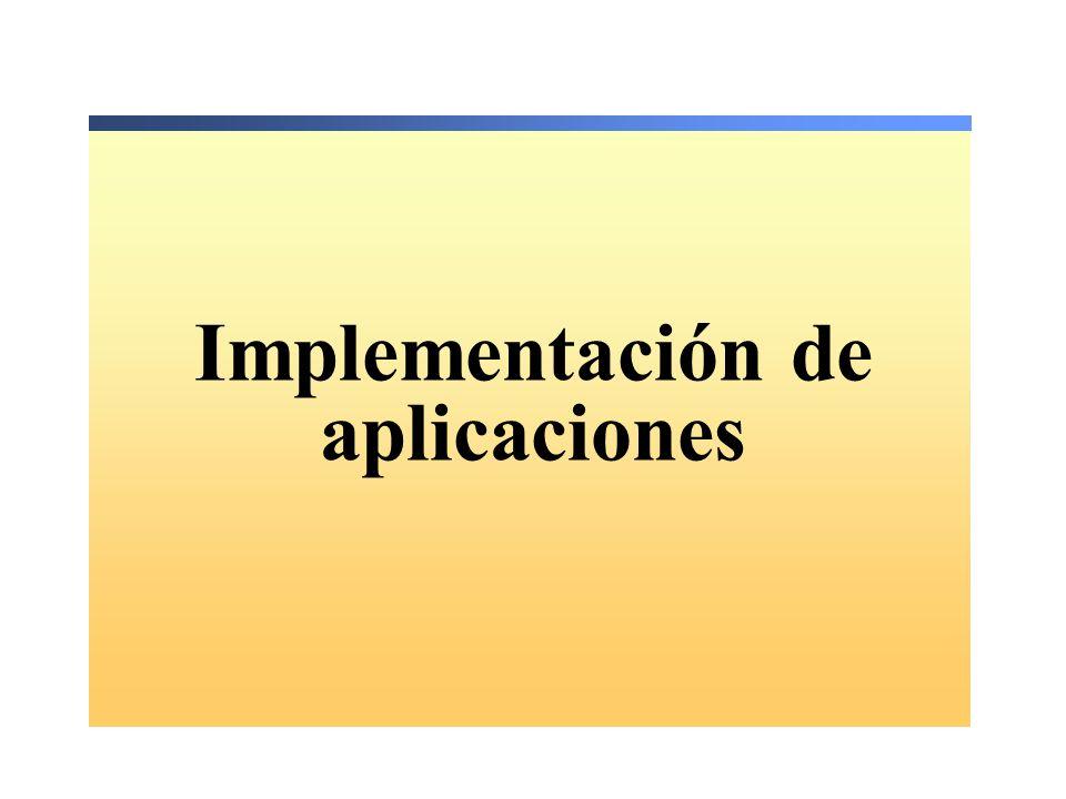 Implementación de aplicaciones