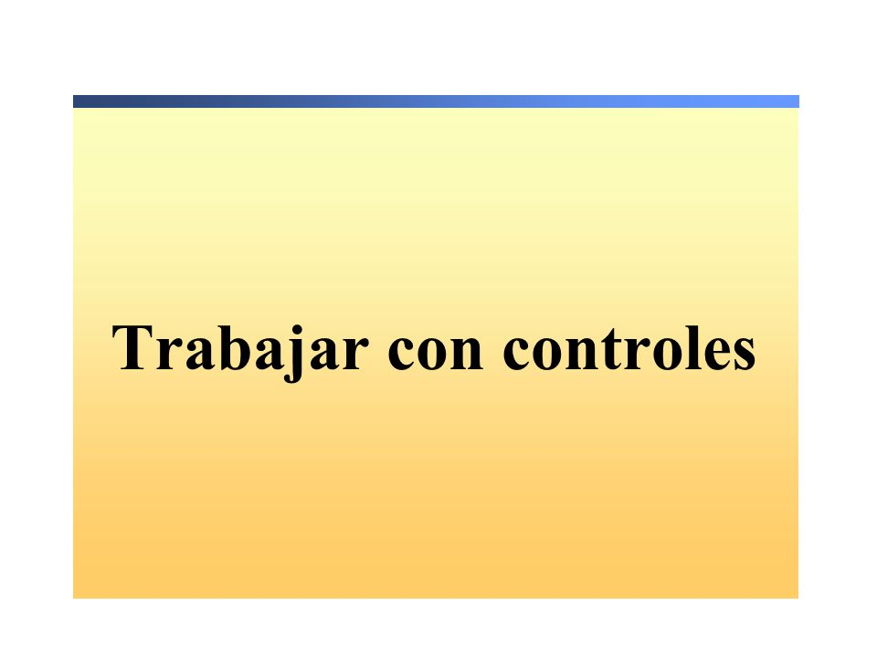 Descripción Crear un controlador de eventos para un control Uso de los controles de los formularios Windows Forms Uso de los cuadros de diálogo en una aplicación Windows Forms Agregar controles en tiempo de ejecución Crear menús Validar introducción de datos de los usuarios