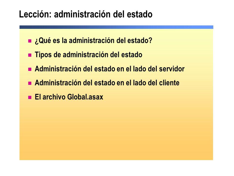 Lección: administración del estado ¿Qué es la administración del estado? Tipos de administración del estado Administración del estado en el lado del s