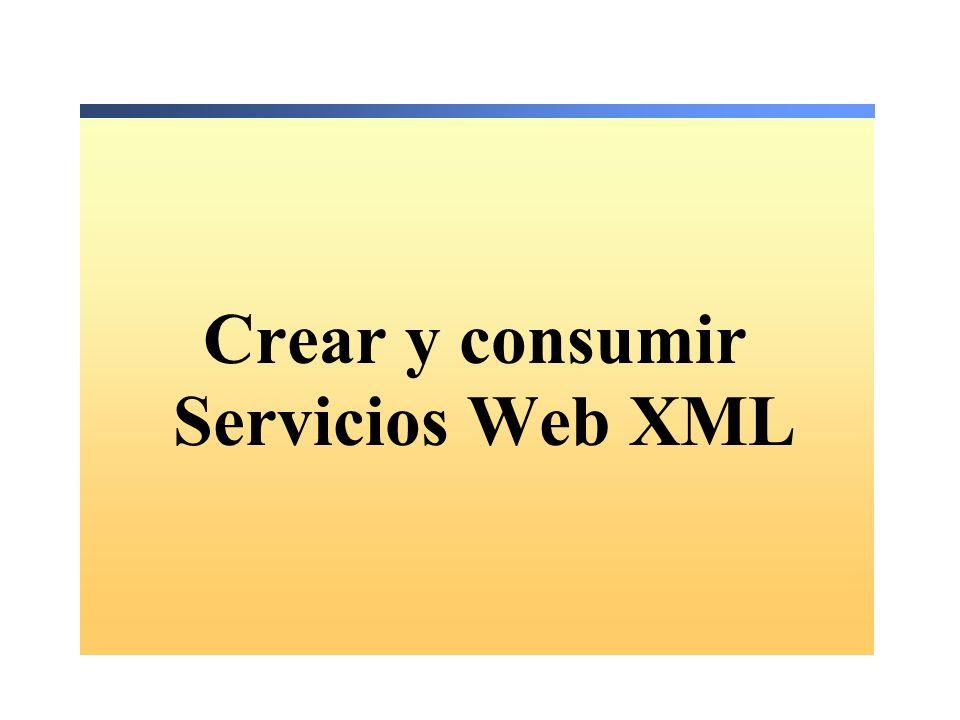 Cómo utilizar un proxy para invocar un servicio Web XML 1.Crear una referencia Web para el servicio Web XML 2.Crear una instancia del servicio Web XML 3.Invocar los métodos Web del servicio Web XML 4.Generar la aplicación Web ASP.NET Sub Button1_Click(s As Object, e As EventArgs)...