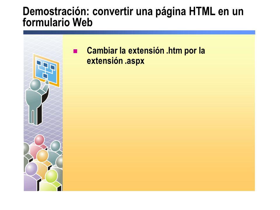Lección: uso de los controles de servidor ¿Qué es un control de servidor.