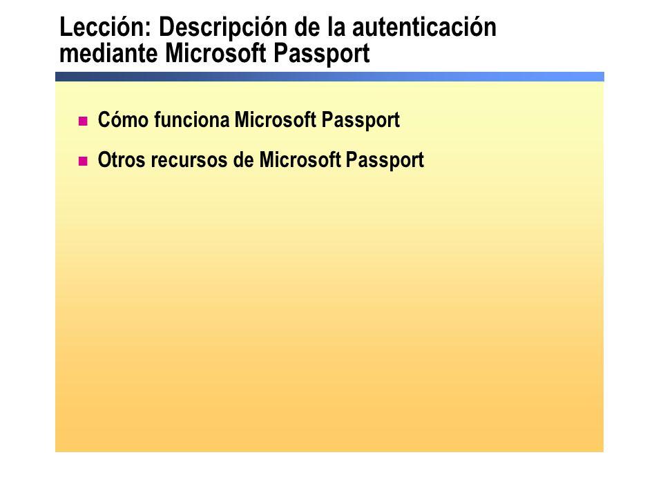 Lección: Descripción de la autenticación mediante Microsoft Passport Cómo funciona Microsoft Passport Otros recursos de Microsoft Passport