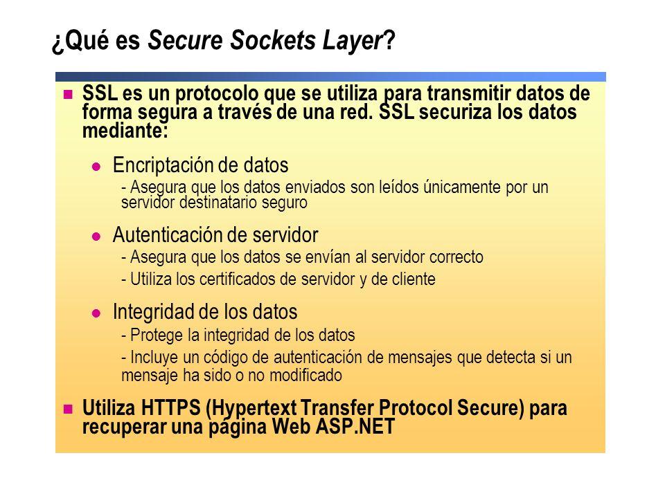¿Qué es Secure Sockets Layer ? SSL es un protocolo que se utiliza para transmitir datos de forma segura a través de una red. SSL securiza los datos me
