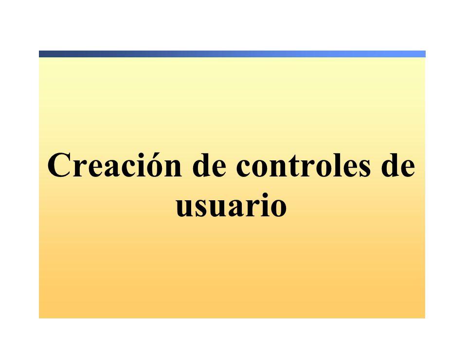 Descripción Agregar controles de usuario a un formulario Web Form ASP.NET Crear controles de usuario