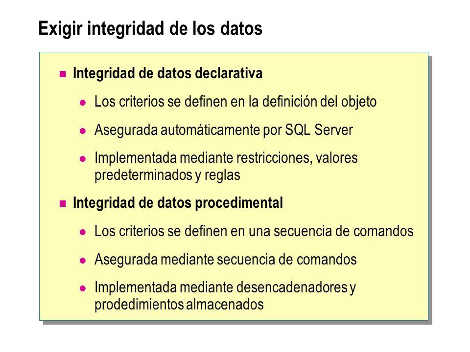 Definición de restricciones Determinación del tipo de restricción que se va a utilizar Creación de restricciones Consideraciones para el uso de restricciones