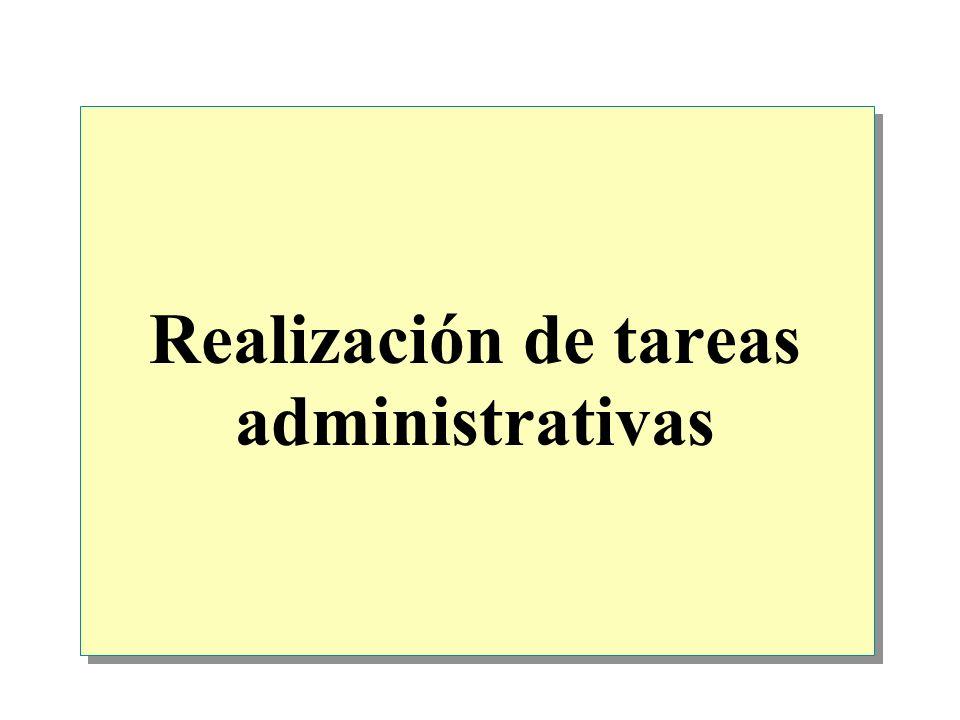 Realización de tareas administrativas