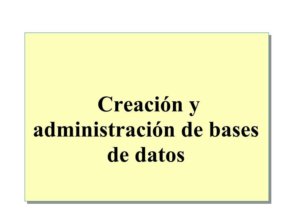 Creación y administración de bases de datos