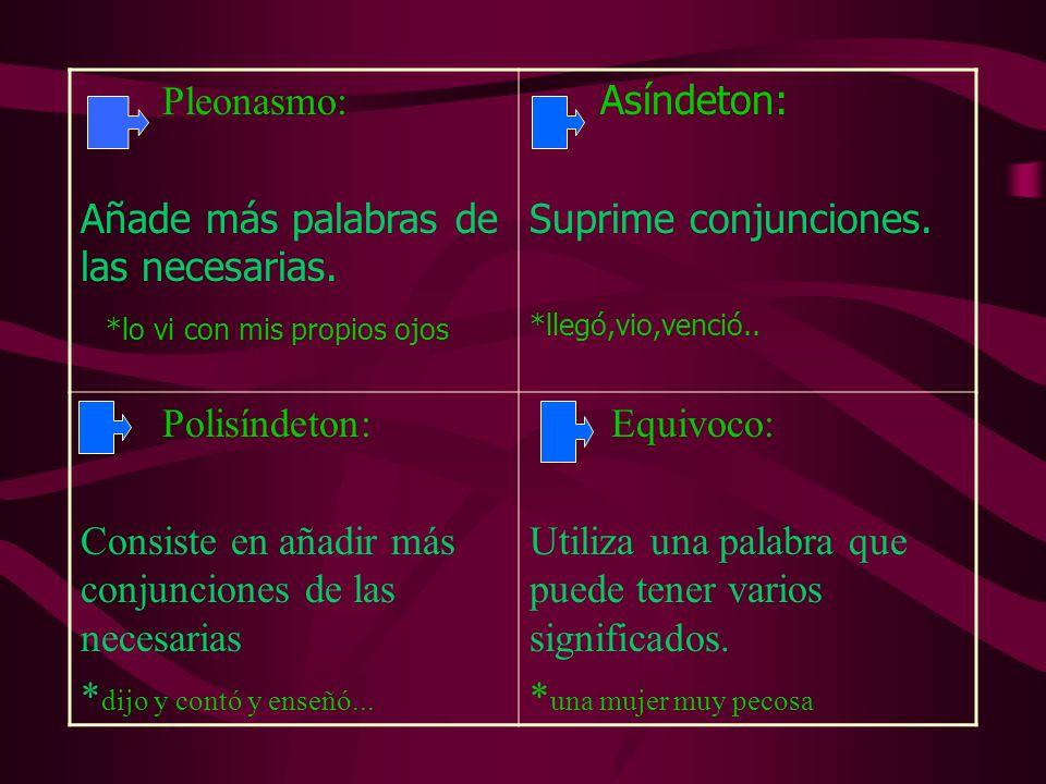 Epanadiplosis: Repite la misma palabra Al principio y final de Frase o verso *verde que te Quiero verde Hipérbaton: Alteración del orden lógico De las palabras de Una frase.