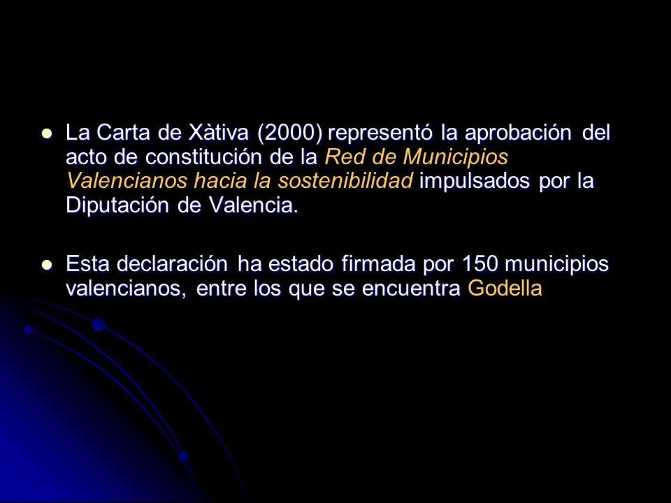 La Carta de Xàtiva (2000) representó la aprobación del acto de constitución de la impulsados por la Diputación de Valencia. La Carta de Xàtiva (2000)