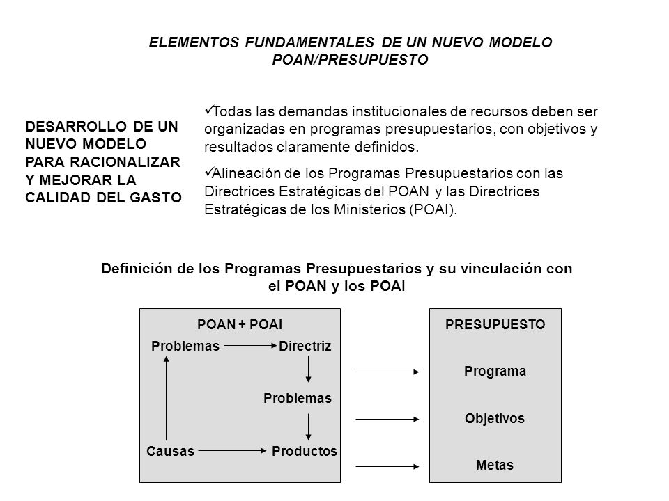 POAN 2005 PLAN OPERATIVO ANUAL NACIONAL 2005 POAN 2005