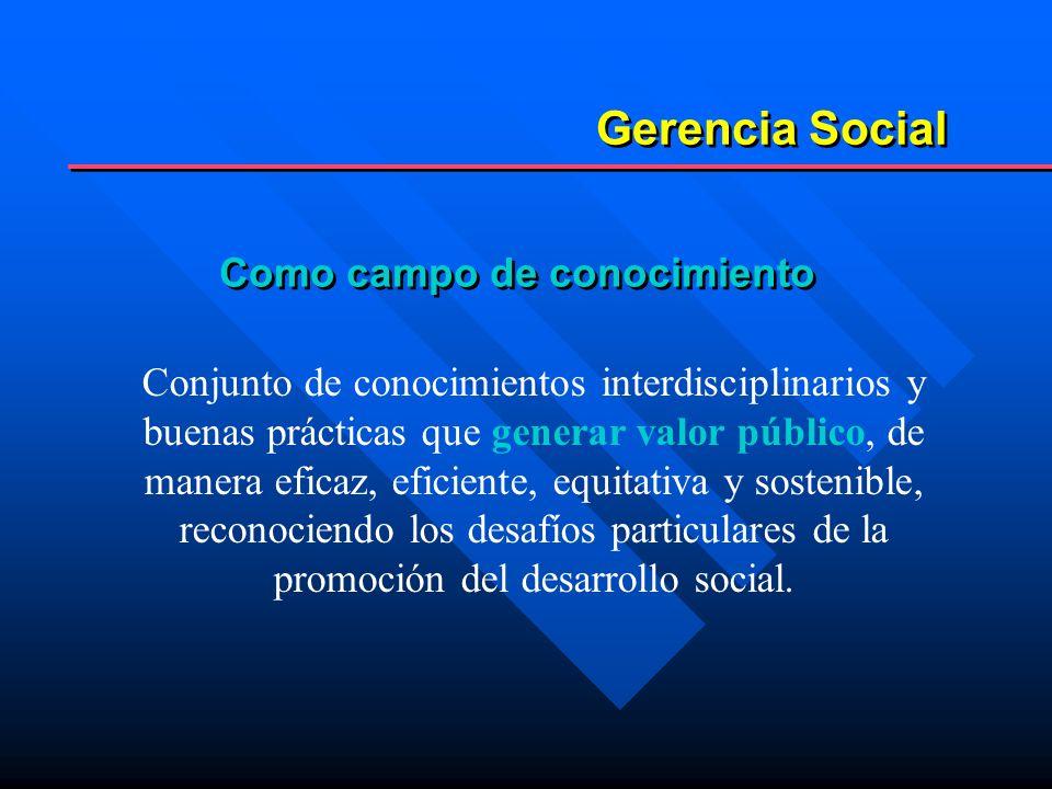En consecuencia la Gerencia Social es...