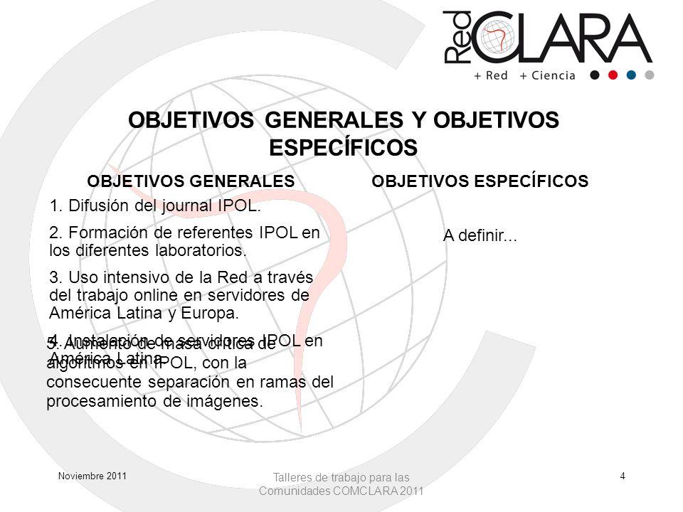 OBJETIVOS GENERALES Y OBJETIVOS ESPECÍFICOS OBJETIVOS GENERALESOBJETIVOS ESPECÍFICOS 1.