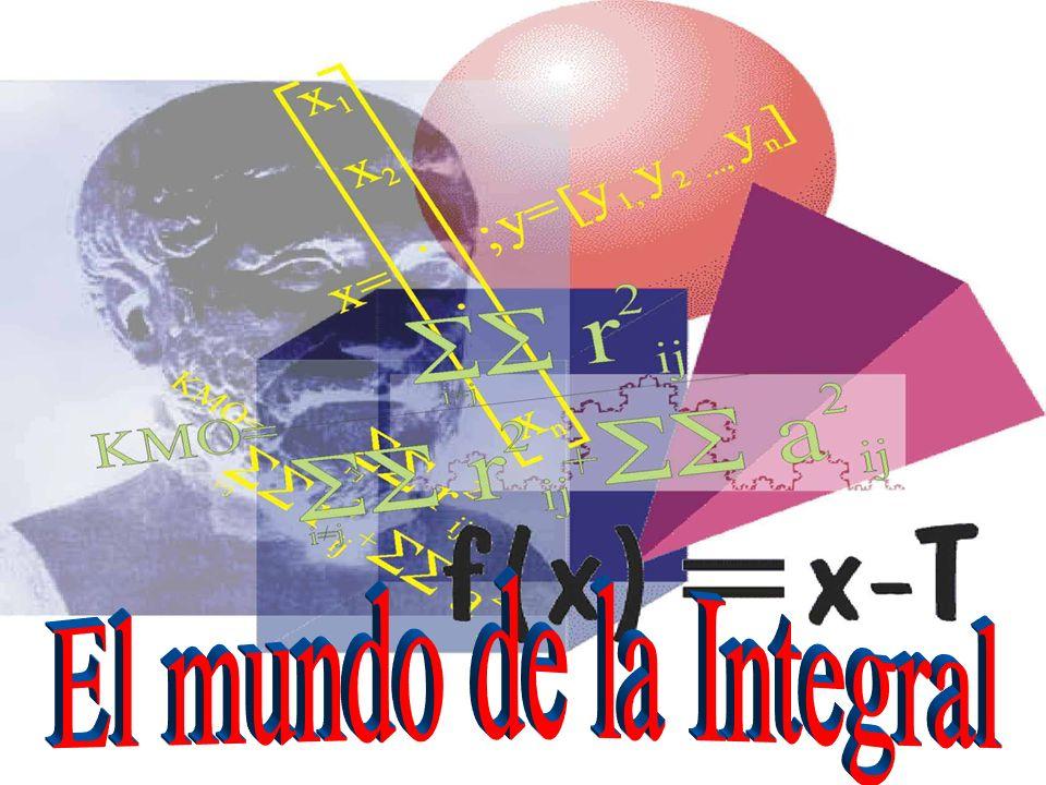 La Integral: En pocas palabras la Integral es la operación inversa a la Derivada Tiene muchas formas de trabajar y variadas aplicaciones