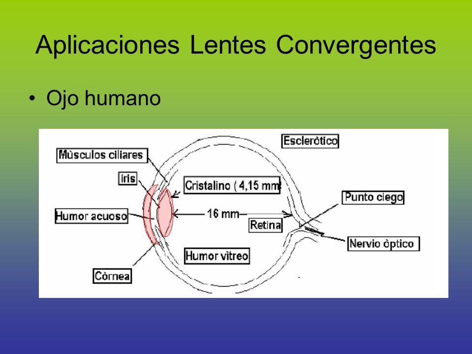 Aplicaciones Lentes Convergentes Ojo humano