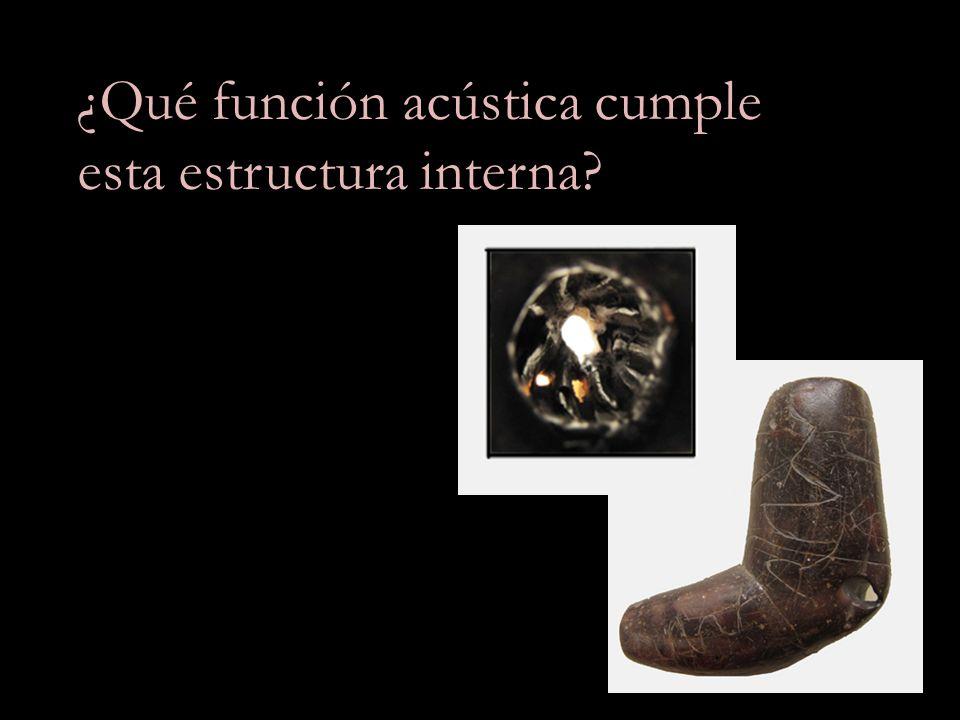 ¿Qué función acústica cumple esta estructura interna?