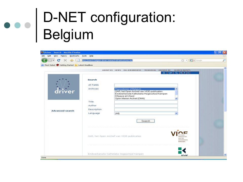 D-NET configuration: Belgium