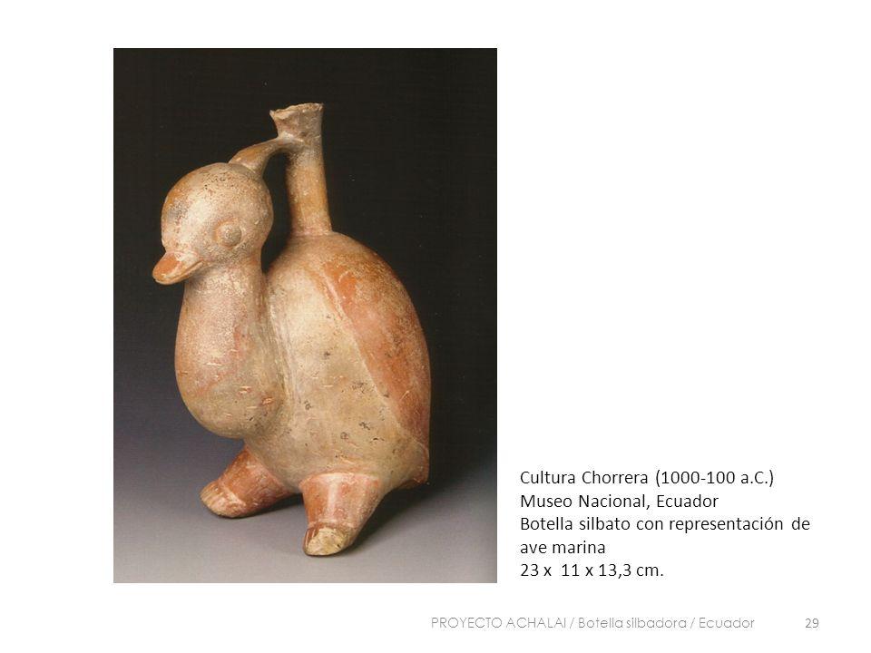 Cultura Chorrera (1000-100 a.C.) Museo Nacional, Ecuador Botella silbato con representación de ave marina 23 x 11 x 13,3 cm. 29 PROYECTO ACHALAI / Bot