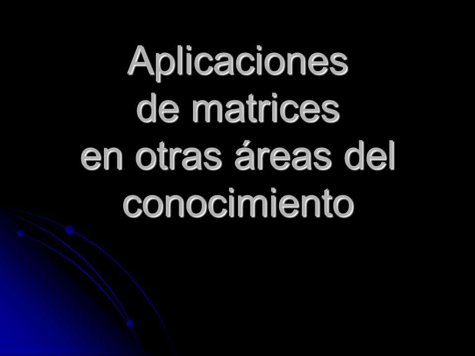 Aplicaciones de matrices en otras áreas del conocimiento