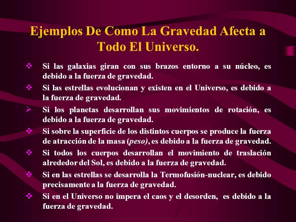 ¿Cúales son las propiedades de la gravedad.