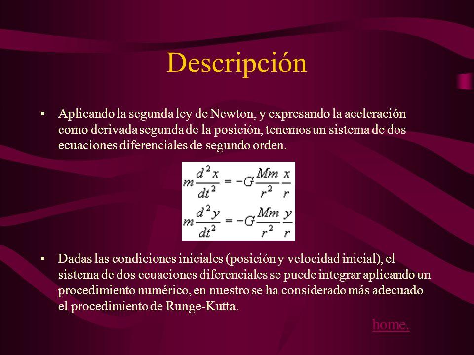 Siendo r la distancia entre el centro del cuerpo celeste y el centro del Sol, y x e y su posición respecto del sistema de referencia cuyo origen está situado en el Sol.