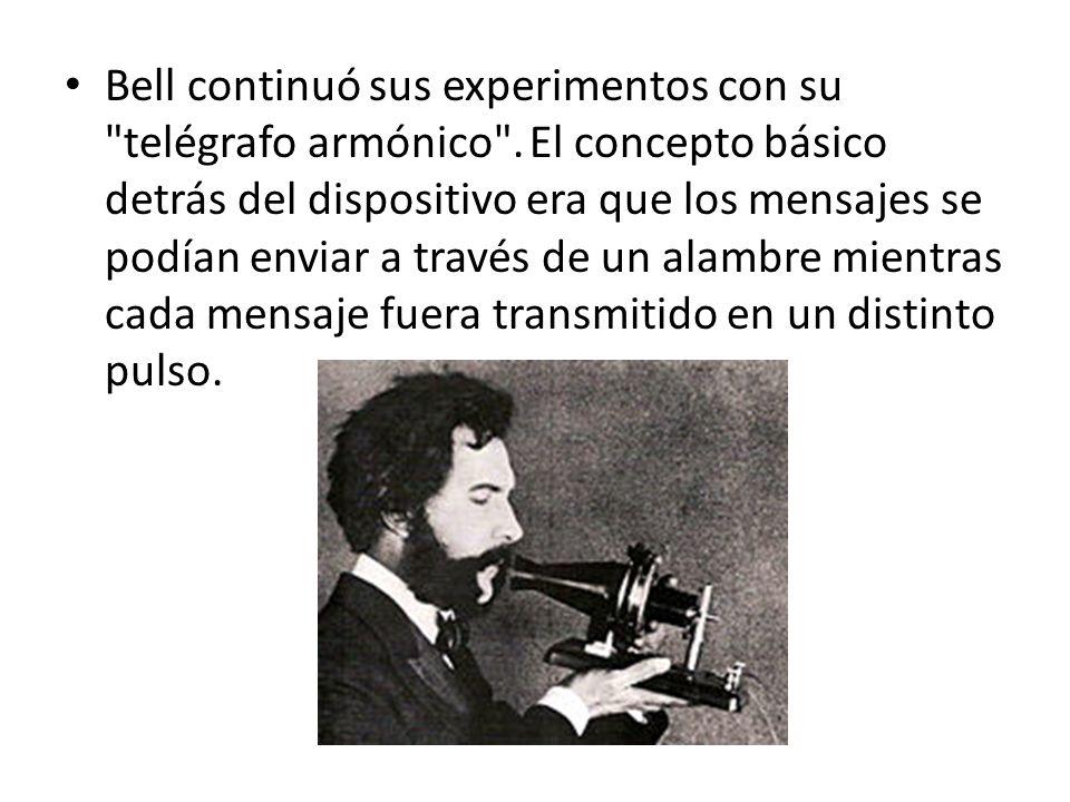 Bell continuó sus experimentos con su