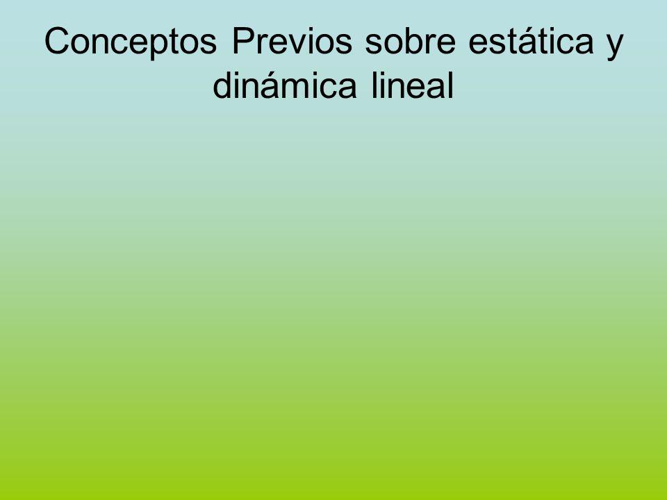 Conceptos Previos sobre estática y dinámica lineal